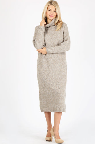 Sweater Dress in Beige