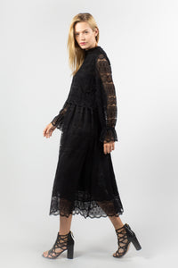 Shanon  Black  Lace Dress