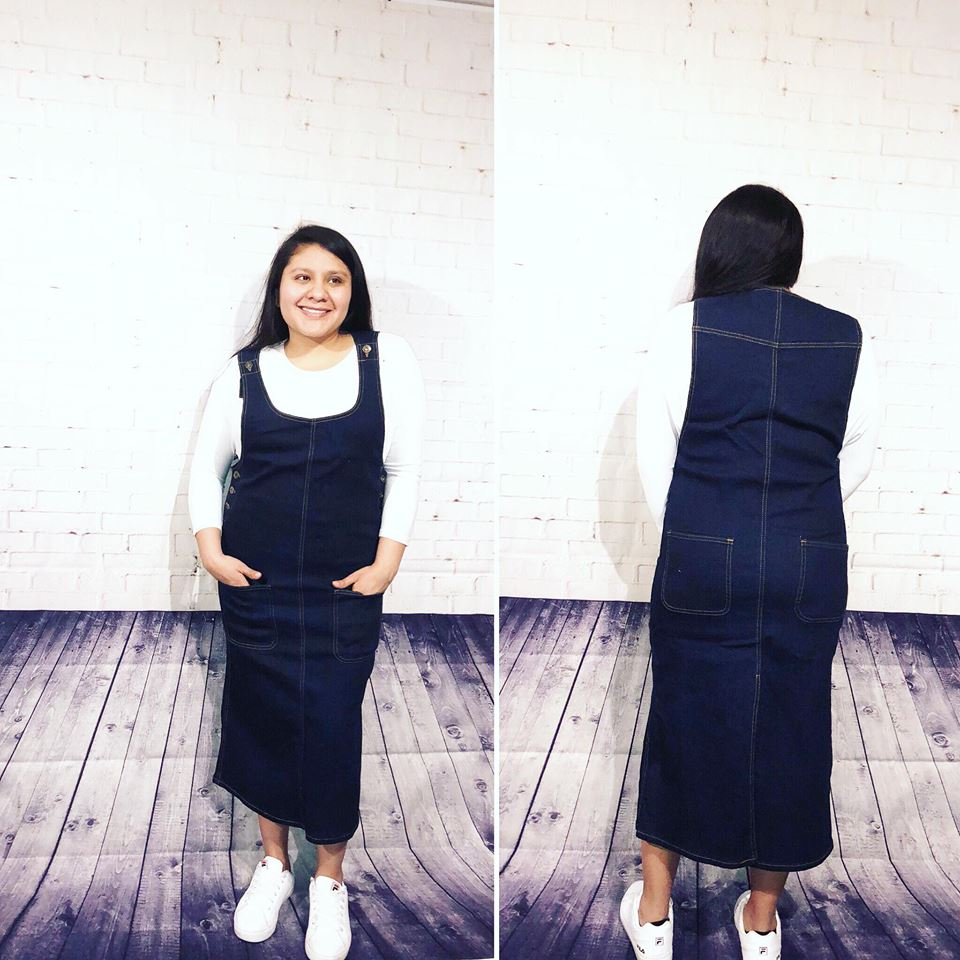 Olivia Overall Denim Dress