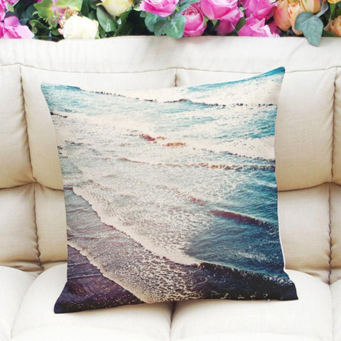 Fresh Ocean Printing Dyeing Sofa Bed Home Decor Pillow Case Cushion Cover-BigVacations