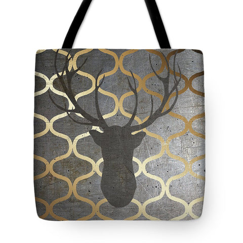 Metallic Deer Nature Tote Bag-BigVacations