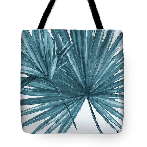 Blue Palmera I Tote Bag-BigVacations