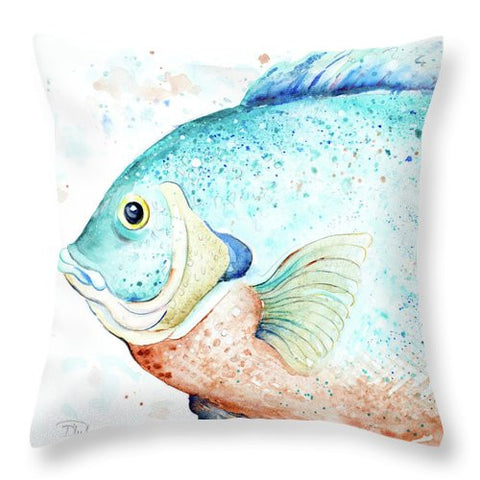 Water Fish Throw Pillow-BigVacations