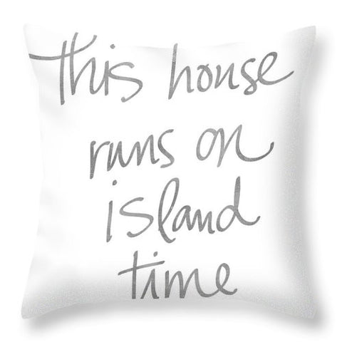 Island Time Throw Pillow-BigVacations