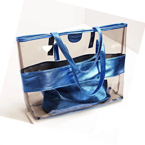 Fashion 2018 Women's Beach Bag Transparent Bag For Girls-BigVacations