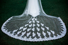 Montana one tier lace ivory royal wedding bridal veil