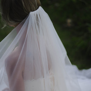 ABIGAIL VEIL Two Tier Horsehair Bridal Veil Wedding Veil - Mademoiselle Bridal