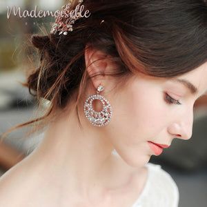 Erika Bridal Full Moon Earrings