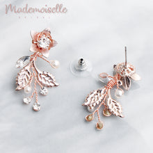 Evelina Bridal Floral Earrings