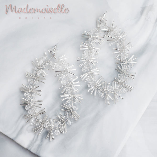 Emry Bridal Crystal Twigs Earrings
