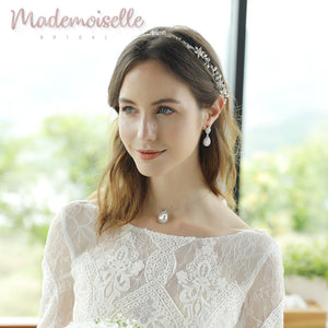 Edith Double Teardrops Bridal Earrings