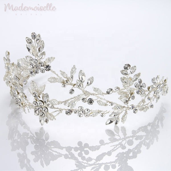 Crystal Arched Vines Tiara