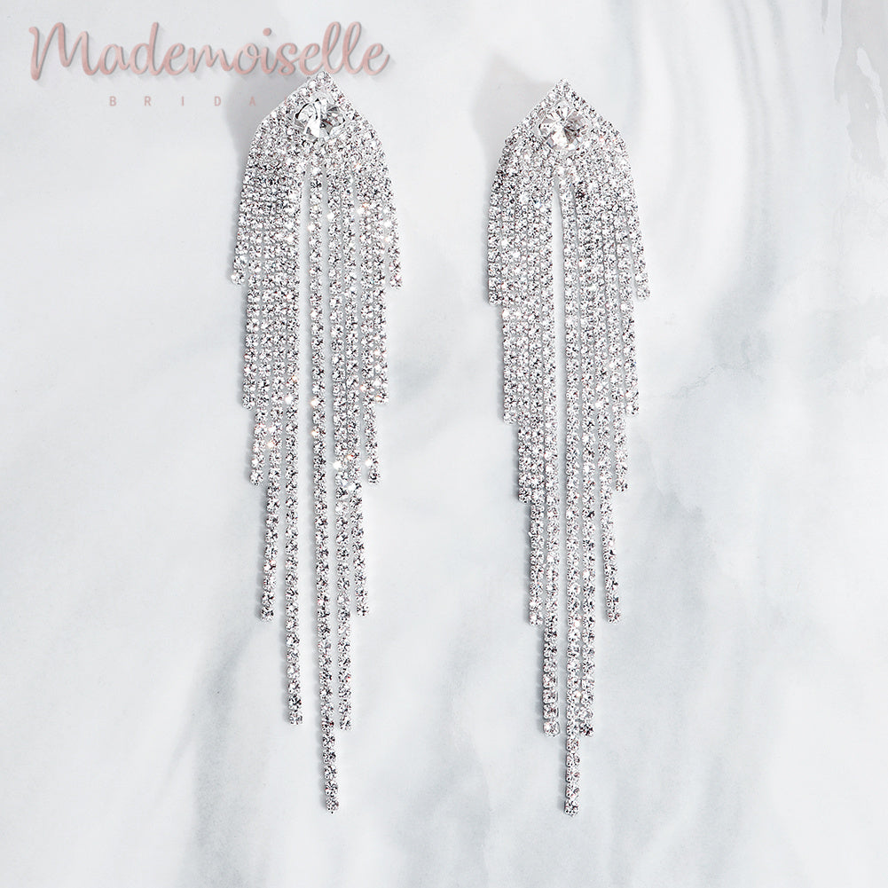 Emmarie Bridal Tassel Earrings