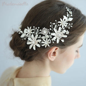 Encrusted Floral Clip