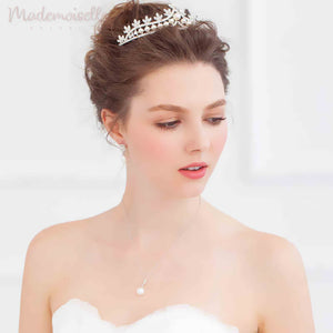 Pearl and Crystal Arched Tiara
