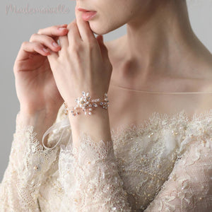 Freshwater Pearls Crystal Wrist Corsage