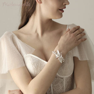 Crystal Floral Wrist Corsage