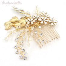 Golden Crystal Garden Comb