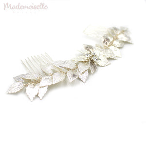 Silver Leaves Double Comb