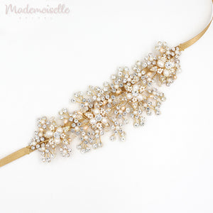 Dazzling Crystal and Pearl Hair Vine
