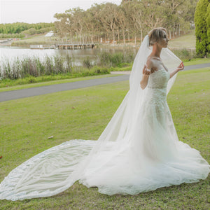 ALEXANDRA VEIL Cathedral Bridal Veil Wedding Veil | Mademoiselle Bridal