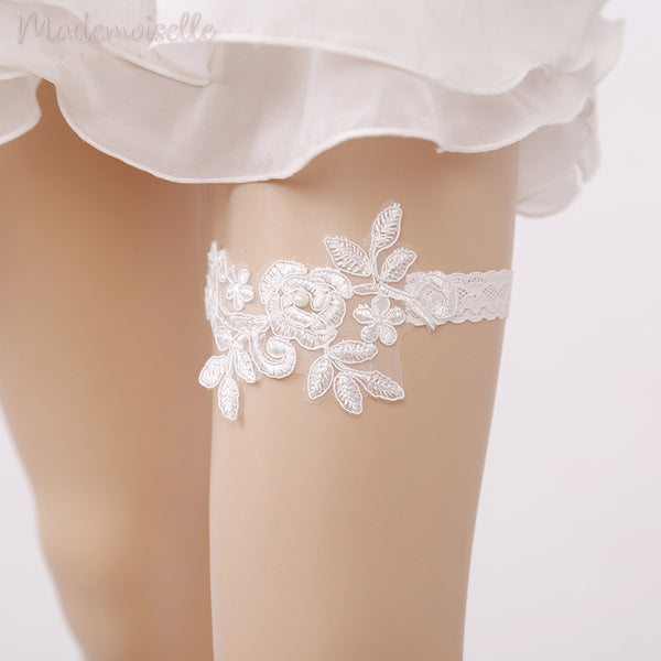 Classic Lace Applique Bridal Garter