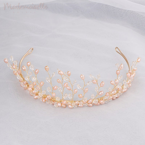 Crystal and Pearls Bridal Tiara