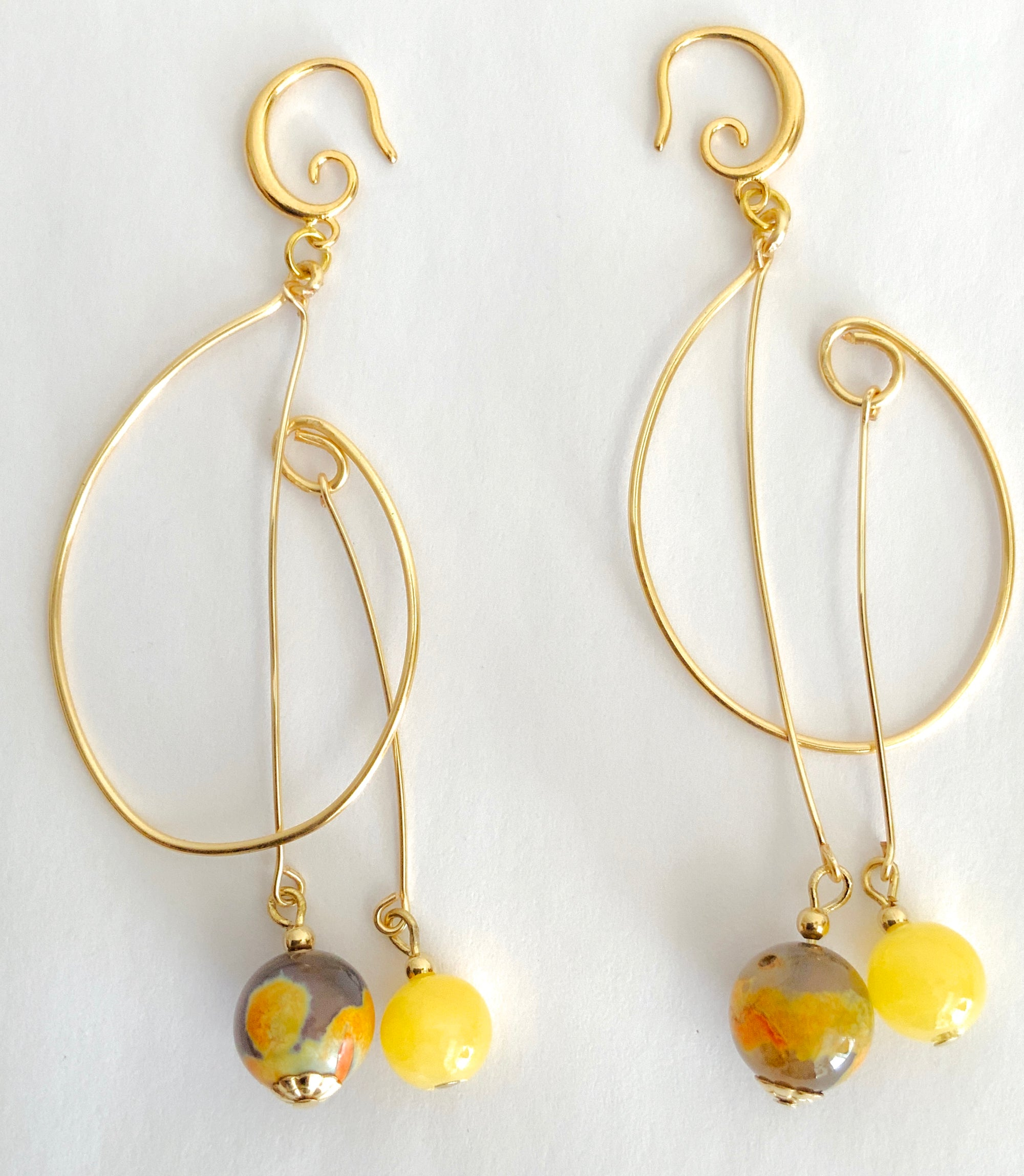 Dangle Gemstones Earrings
