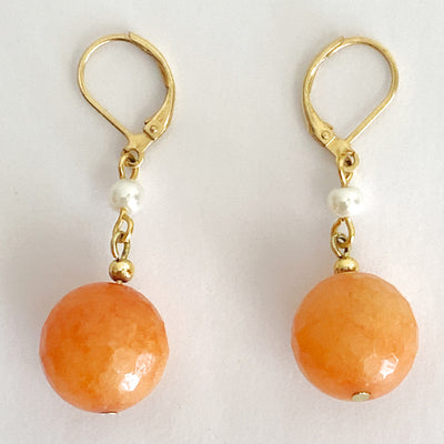 Orange Agate Drop Earrings