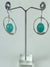 Hoop and Gemstones Drop Earrings