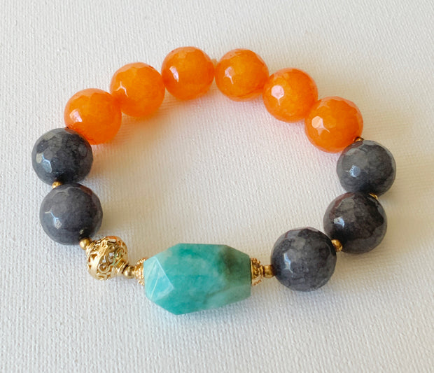 Delire Gemstones Statement Bracelet