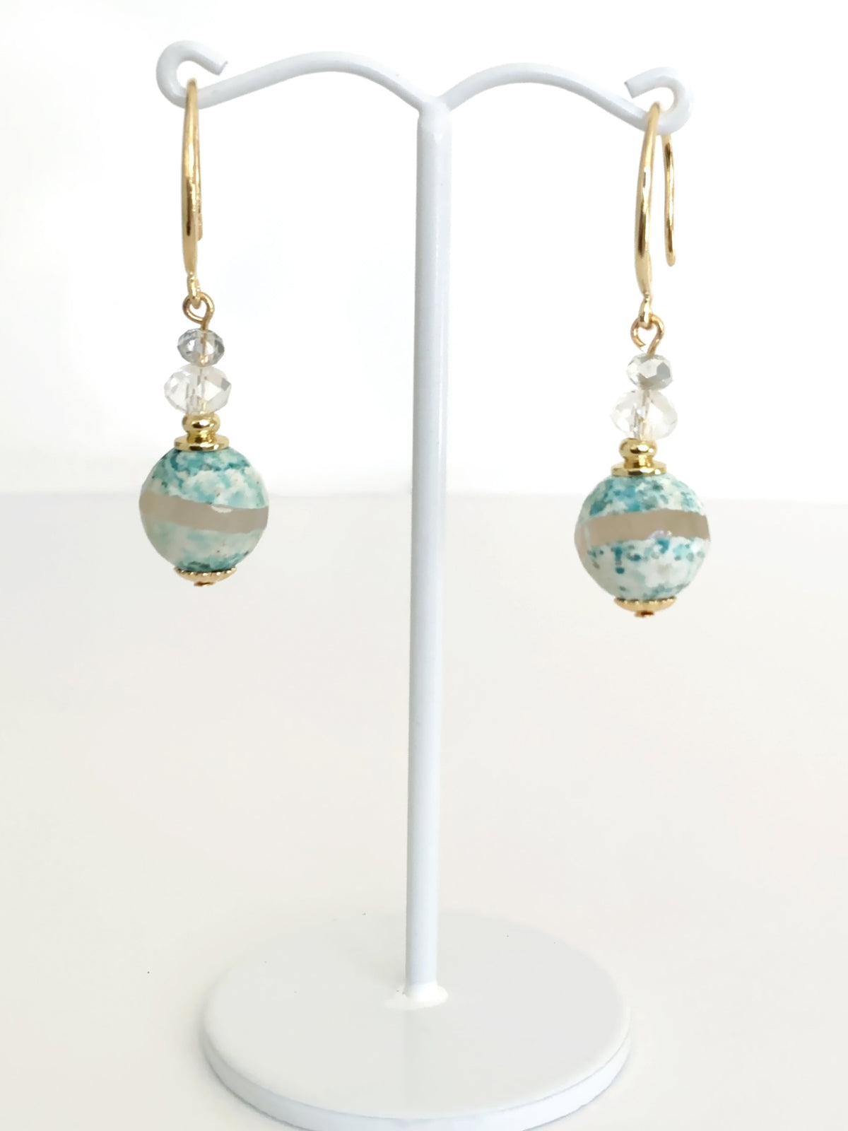 Agate Gemstone Drop Earrings