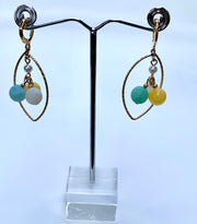 Chandelier Gemstones Hoop Earrings