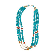 Dazzling Gemstone Multi-layered Necklace