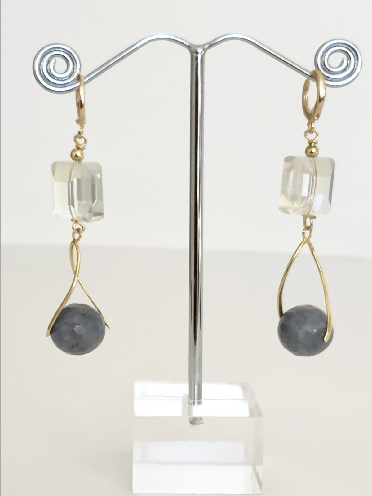 Gemstone Fancy Drop Earrings