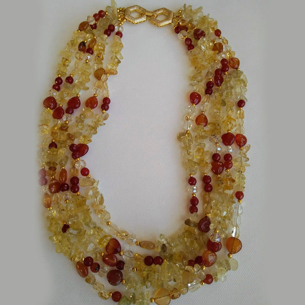 Chunky Citrine Necklace