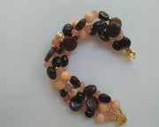 Multi-colored Beads Statement Bracelet