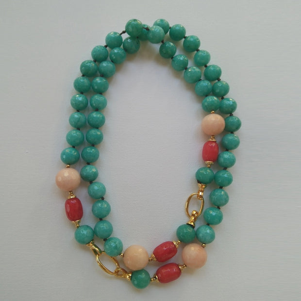 Long Beaded Versatile Necklace