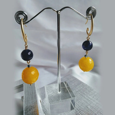 Colorful Gemstones Drop Earrings