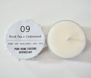 Tealight - Black Tea + Cedarwood No.09