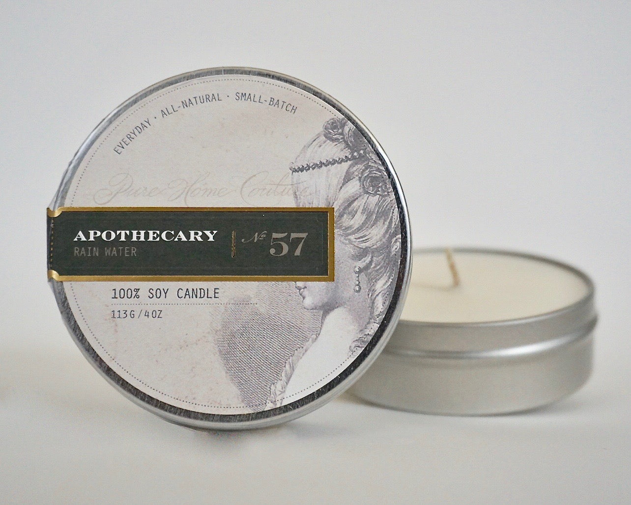 Everyday Tin Candle-Rain Water No.57