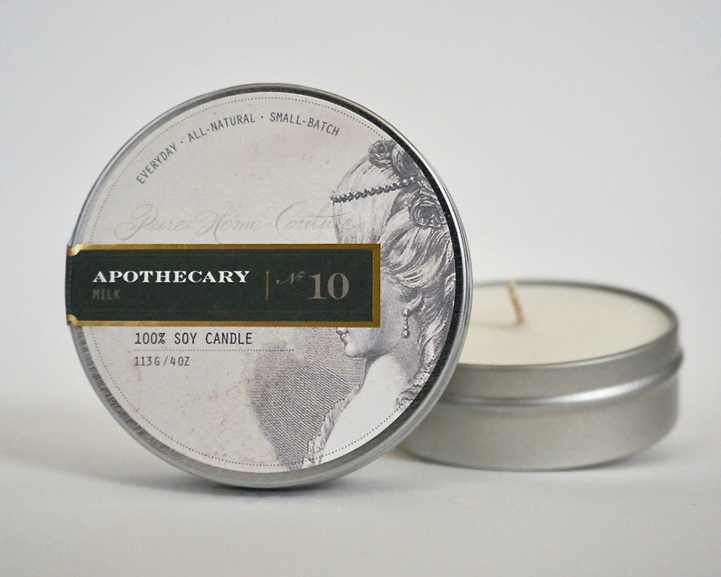 Everyday Tin Candle-Milk No.10