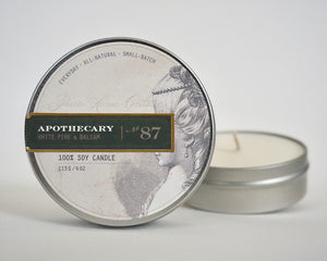 Everyday Tin Candle-White Pine & Balsam No.87