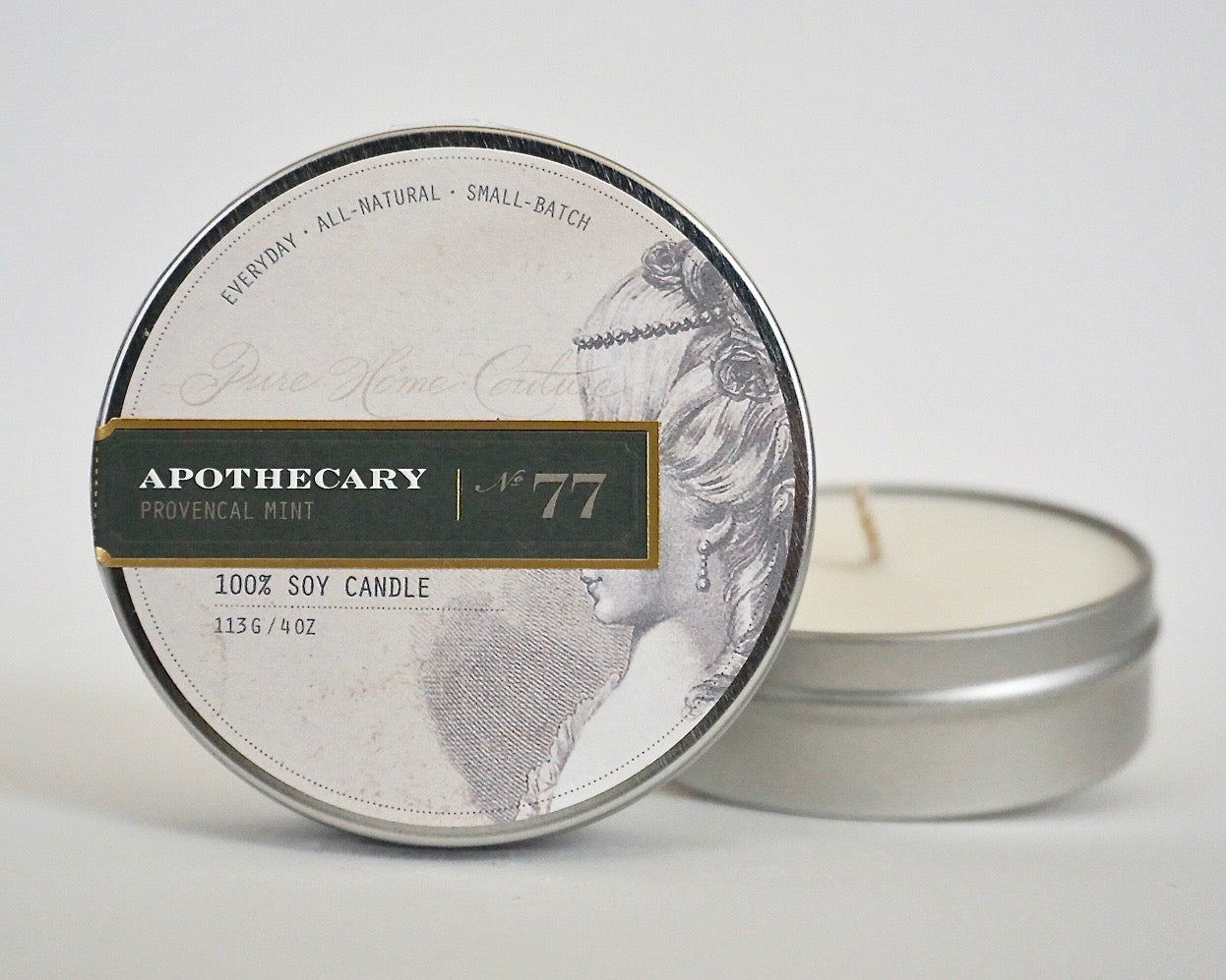 Everyday Tin Candle-Provencal Mint No.77
