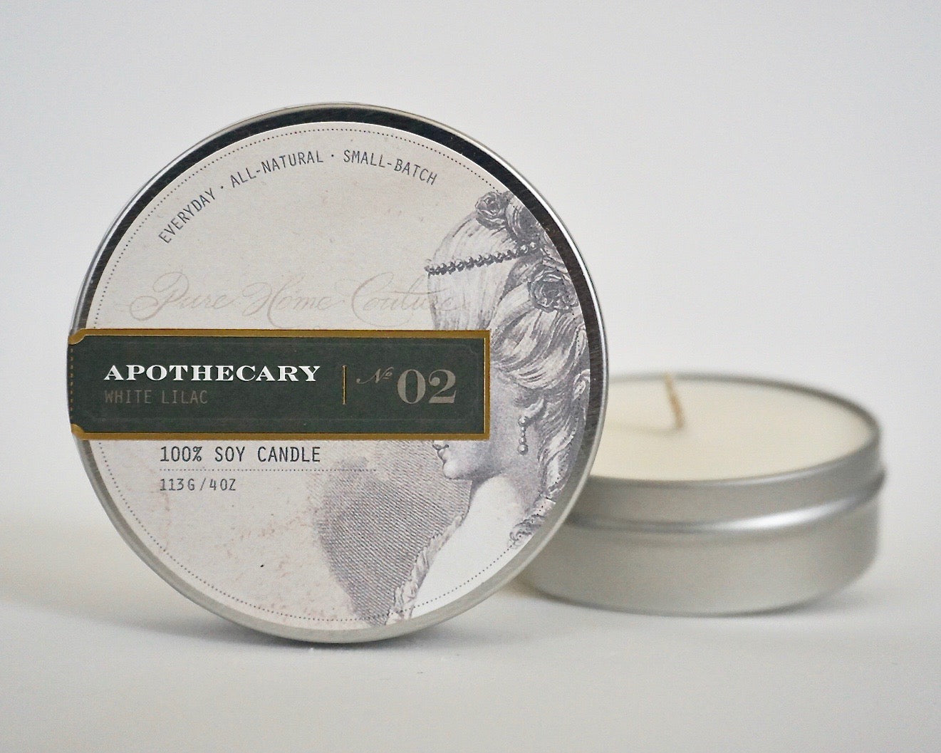 Everyday Tin Candle-White Lilac No.02