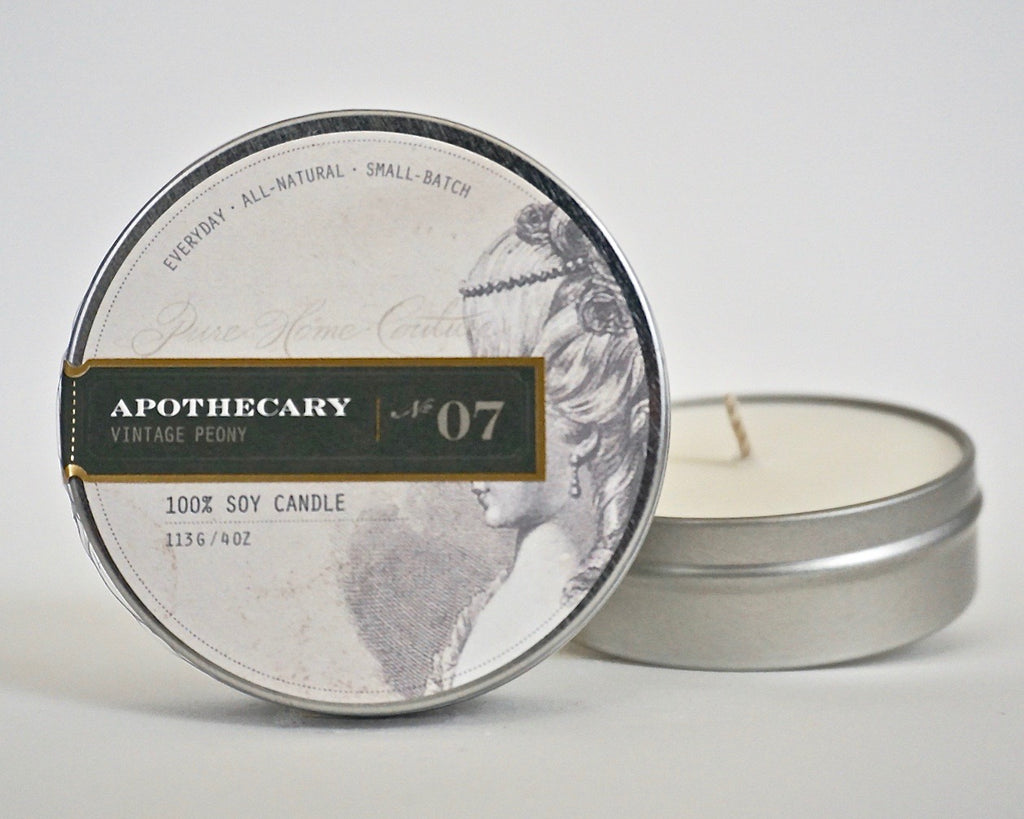 Everyday Tin Candle-Vintage Peony No.07
