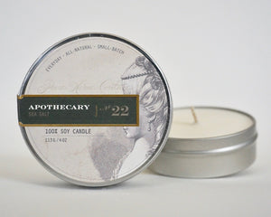 Everyday Tin Candle-Sea Salt No.22