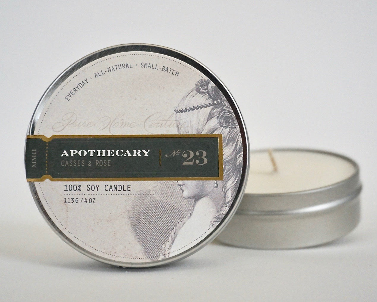 Everyday Tin Candle-Cassis & Rose No.23