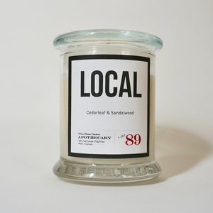 Local Candle-Cedarleaf & Sandalwood No.89