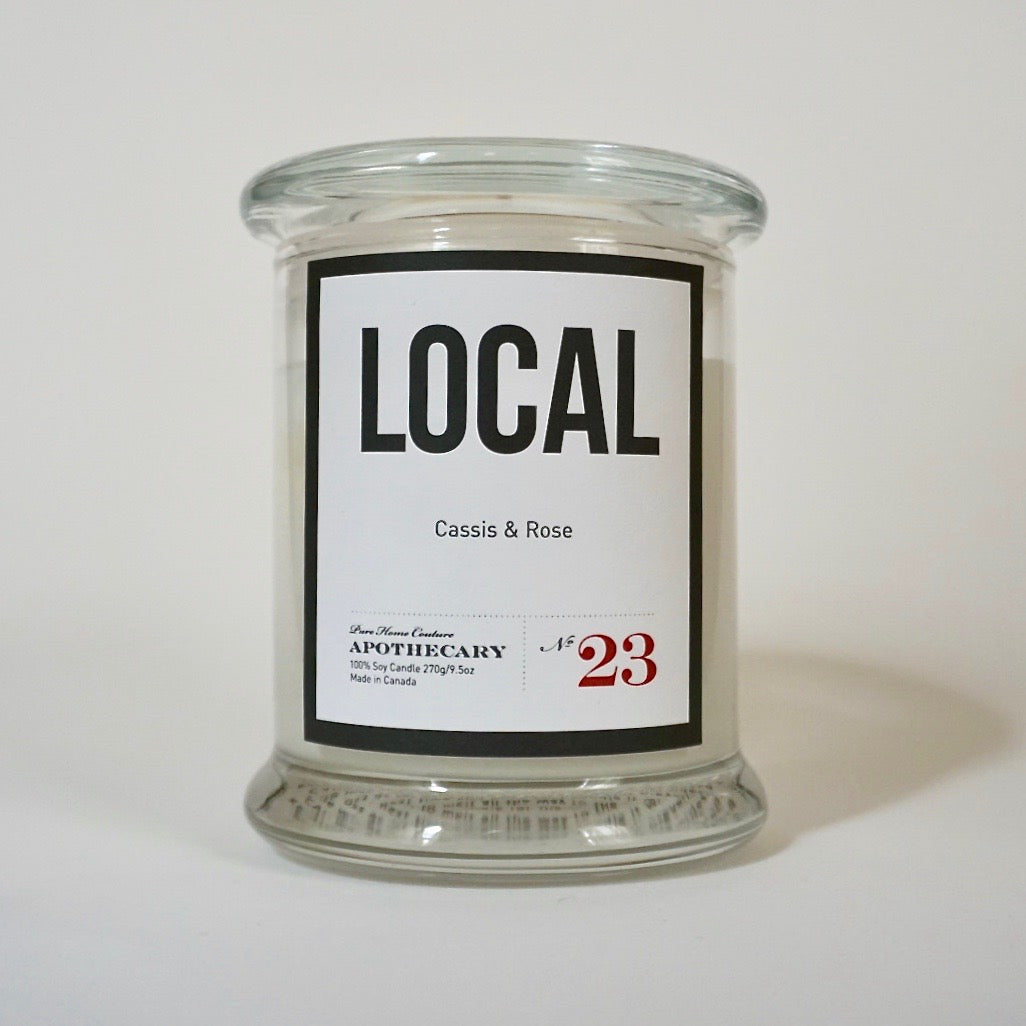 Local Candle-Cassis & Rose No.23